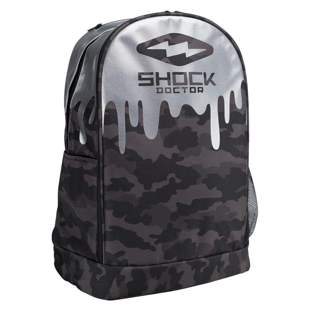 Shock Doctor Premium Camo Drip Backpack - Front Angle View