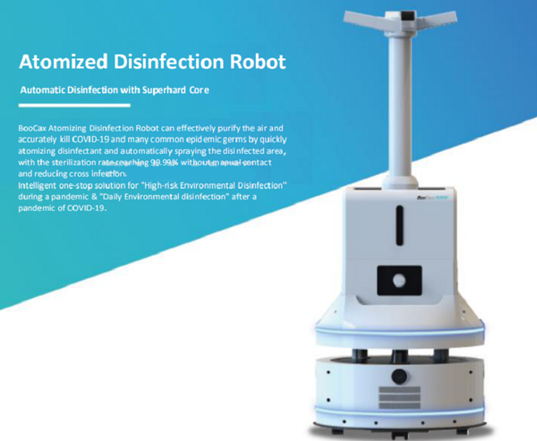Spray Disinfection Robot with Autonomous Navigation Max.16L Tank for Regular & Immediate Spraying Mode Controlled by Mobile APP