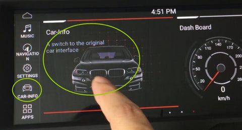 click car info to get into original interface