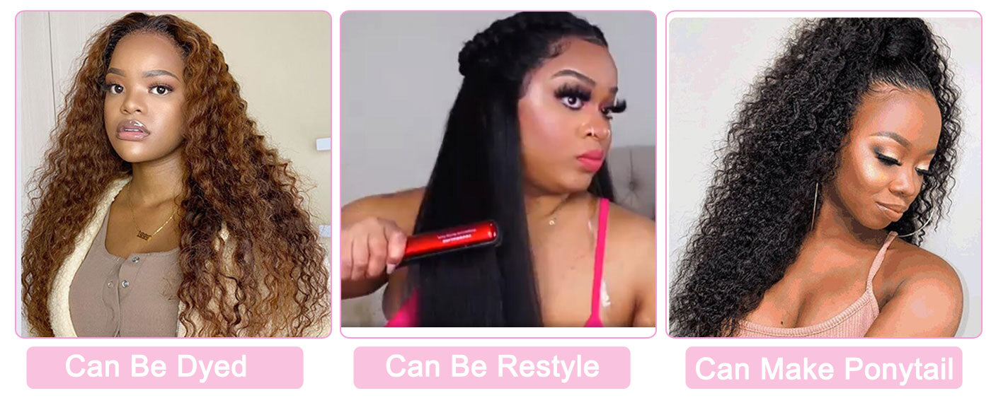 reshine hair deep curly hair wigs can be dyed