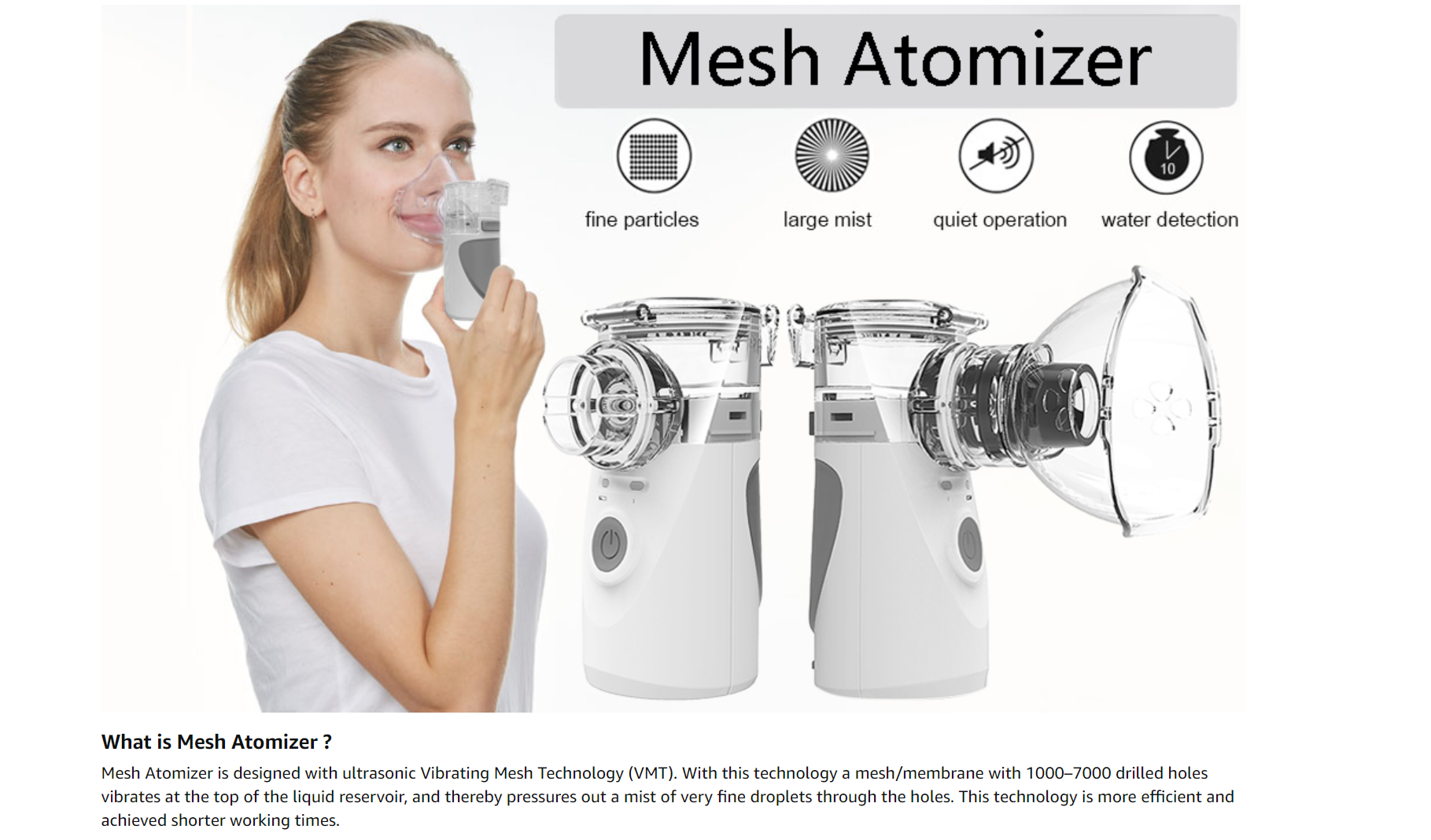 Handheld Mesh Atomizer Machine for Home Daily Use