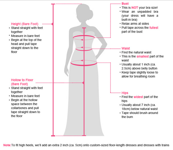 Measuring Guide - AnnaCustomDress