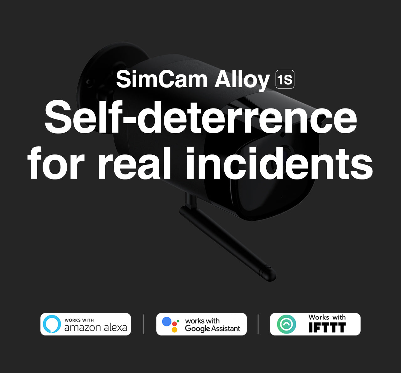 simcam alloy 1s outdoor security camera self-deterrence