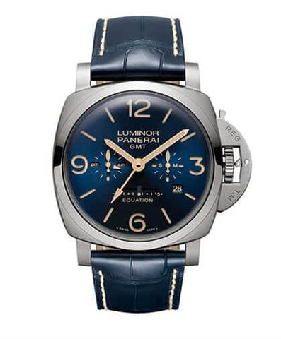 Panerai Luminor 1950 8 Days Equation of Time Blue Dial Watch