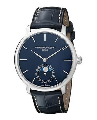 Frederique Constant Slim Line Stainless Steel Blue Dial Watch