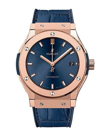 Hublot Classic Fusion Blue Sunray Dial 18kt King Gold Automatic Watch