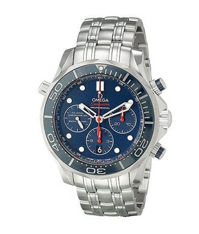 Omega Diver 300 M Co-Axial Chronograph Blue Dial Watch