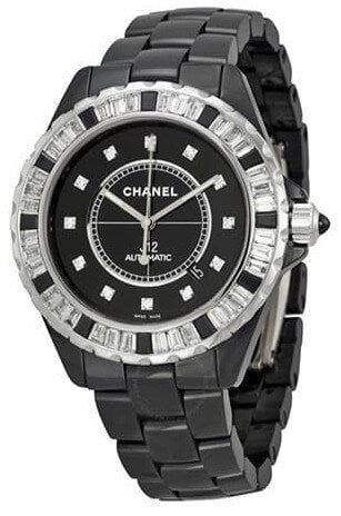 Chanel J12 Automatic Black Diamond Dial Men's Watch