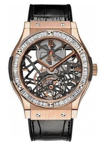 Hublot Classic Fusion Tourbillon 18K King Gold Diamond Men's Watch