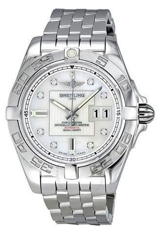 Breitling Galactic 41 Automatic Diamond Mother of Pearl Men's Watch