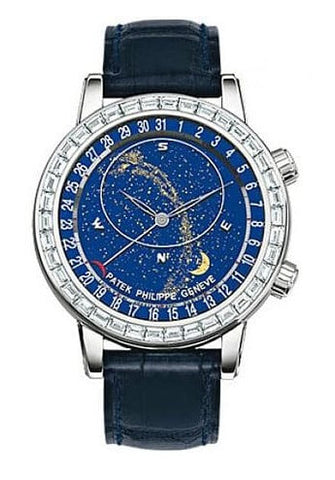 Patek Philippe Grand Complications Celestial 18K White Gold Diamond Men's Watch