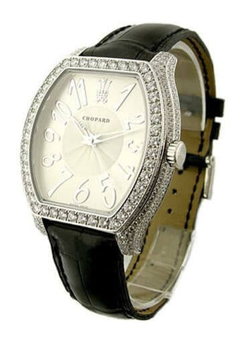 Chopard Silver Dial 18 Carat White Gold Diamond Men's Watch