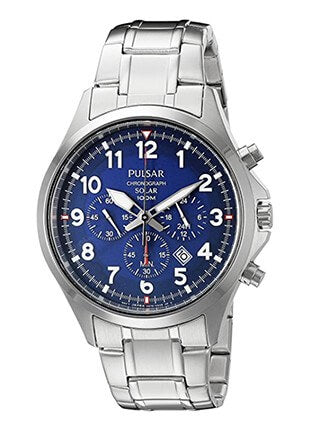 Pulsar Men's PX5037 Solar Chronograph Watch