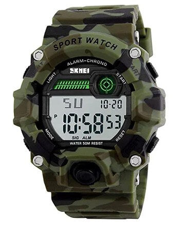 Kids Camouflage LED Sport Watch