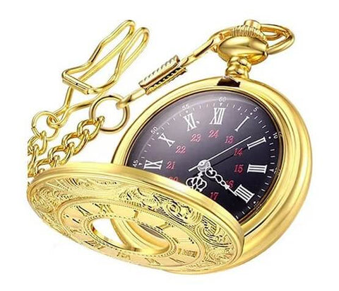 WIOR Classic Smooth Vintage Pocket Watch