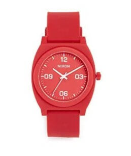 Nixon Time Teller Matte Red Watch