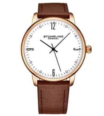 Stuhrling Original Mens Rose Gold Watch