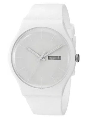 Swatch SUOW701 All White Watch