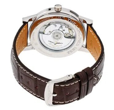 Longines 1832 Beige Dial Leather Strap Men's Watch.