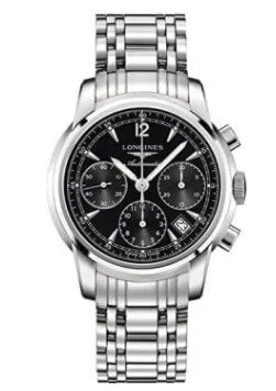 Longines Saint-Imier Black Dial Men's Watch.