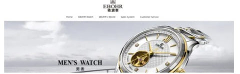 Ebohr website landing page in English