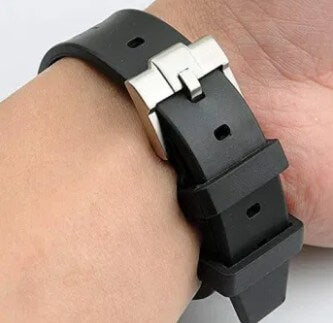 Rubber Watchband Strap w/Tang Buckle.