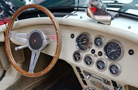 Ford AC Cobra Shelby Dashboard. This design inspired Baume & Mercier to make their watch