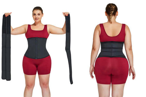 plus size waist trainer before and after
