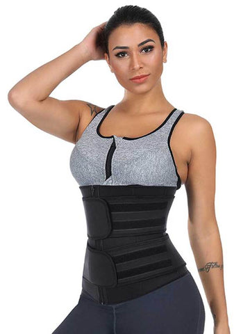 waist trainer with zipper and straps