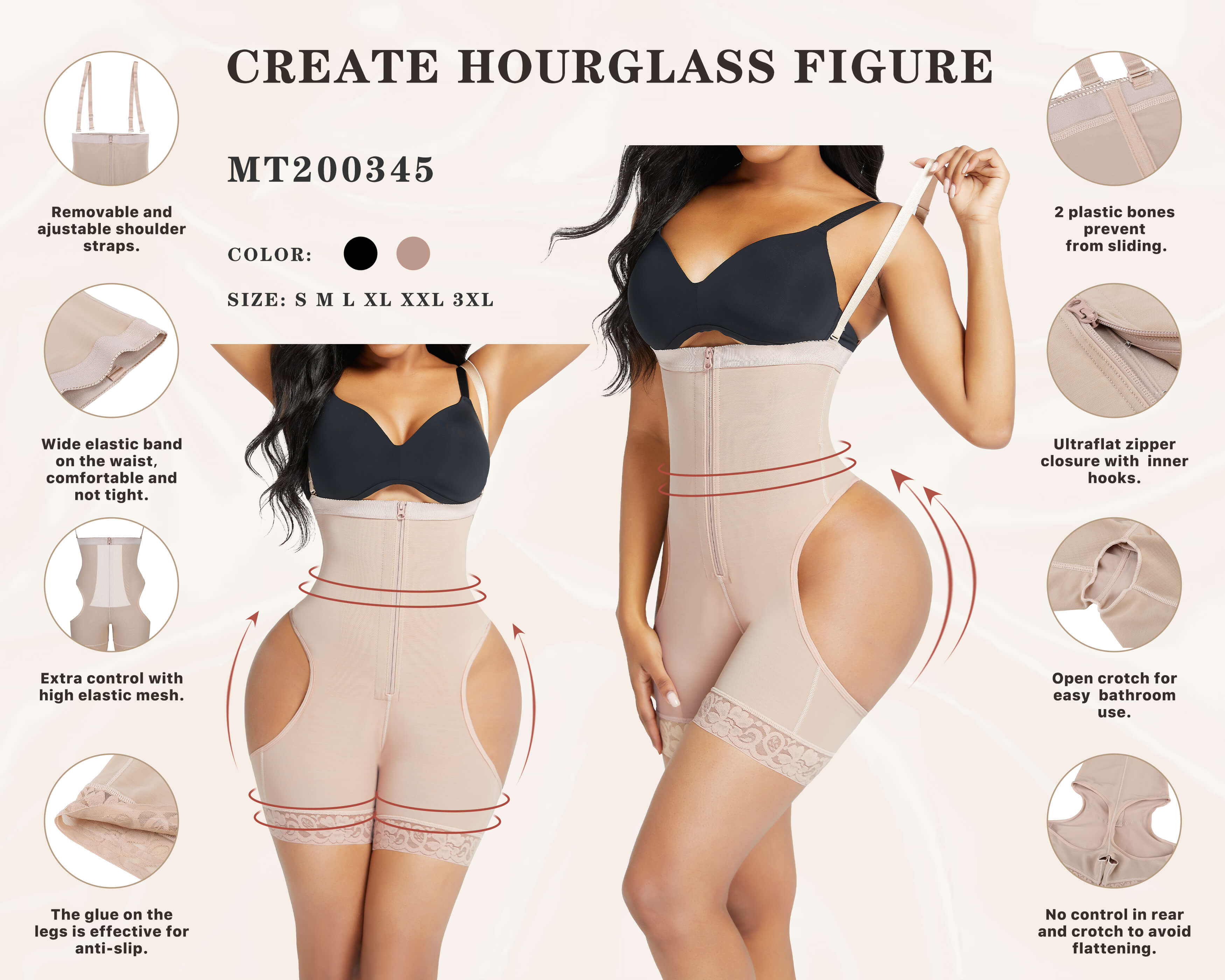 FeelinGirl Women Waist Trainer Shorts Butt Lifter Tummy Control Shapewear