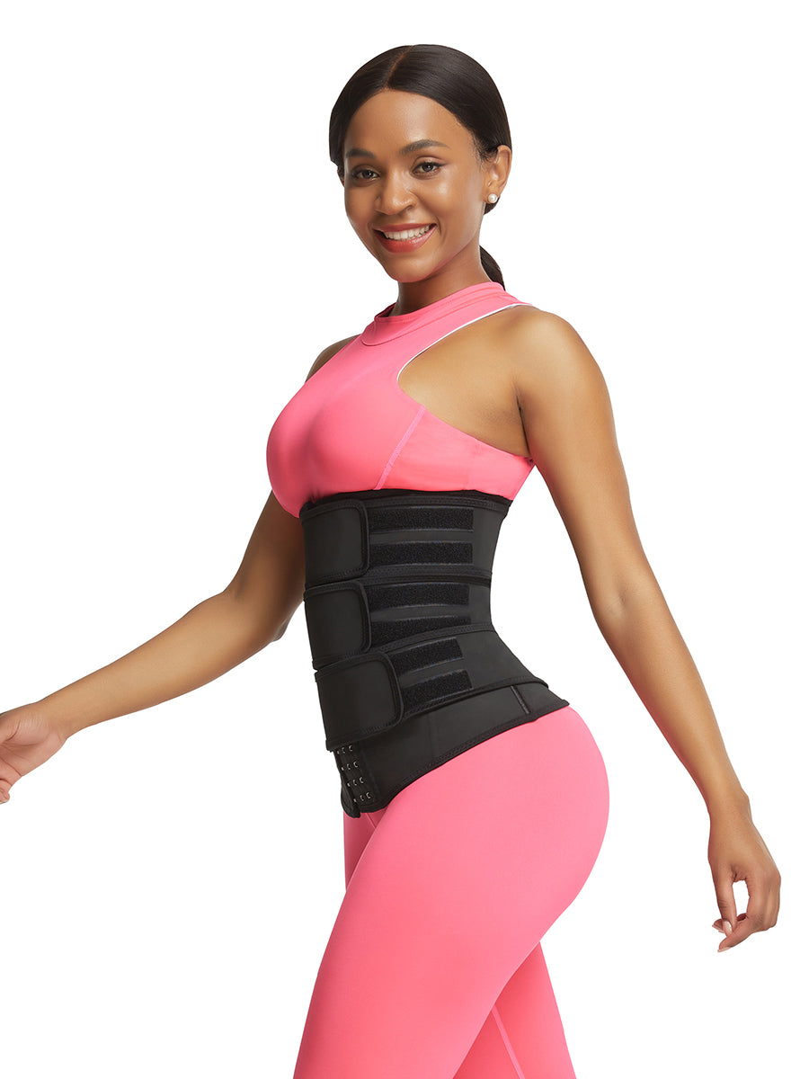 women latex waist trainer