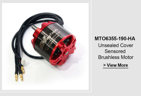 Mayetch Brushless 6355 170KV Open Cover Outrunner Sensored Motor for Esk8/E-bike/Fighting Robots