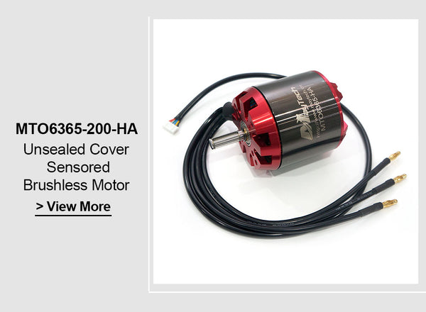 Maytech Brushless 6365 200KV Open Cover Outrunner Sensored Motor for Esk8/E-bike/E-scooter