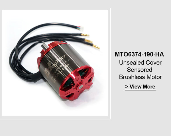 Maytech Brushless 6374 90/190KV Open Cover Outrunner Sensored Motor for Esk8/Robots