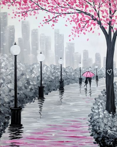 30 Easy Landscape Painting Ideas for Beginners, Easy Canvas Painting Ideas, Easy Tree Paintings, Easy Landscape Paintings, Simple Acrylic Painting Ideas for Beginners