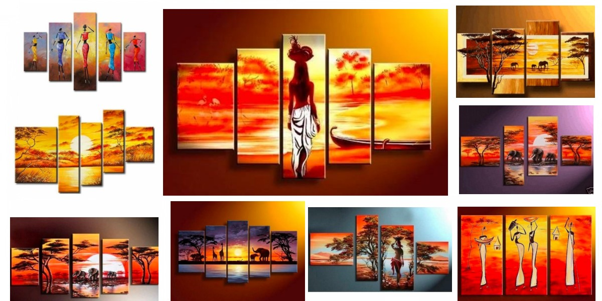 African Woman Painting, African Painting, Acrylic Hand Painted Wall Art, Large Paintings for Bedroom