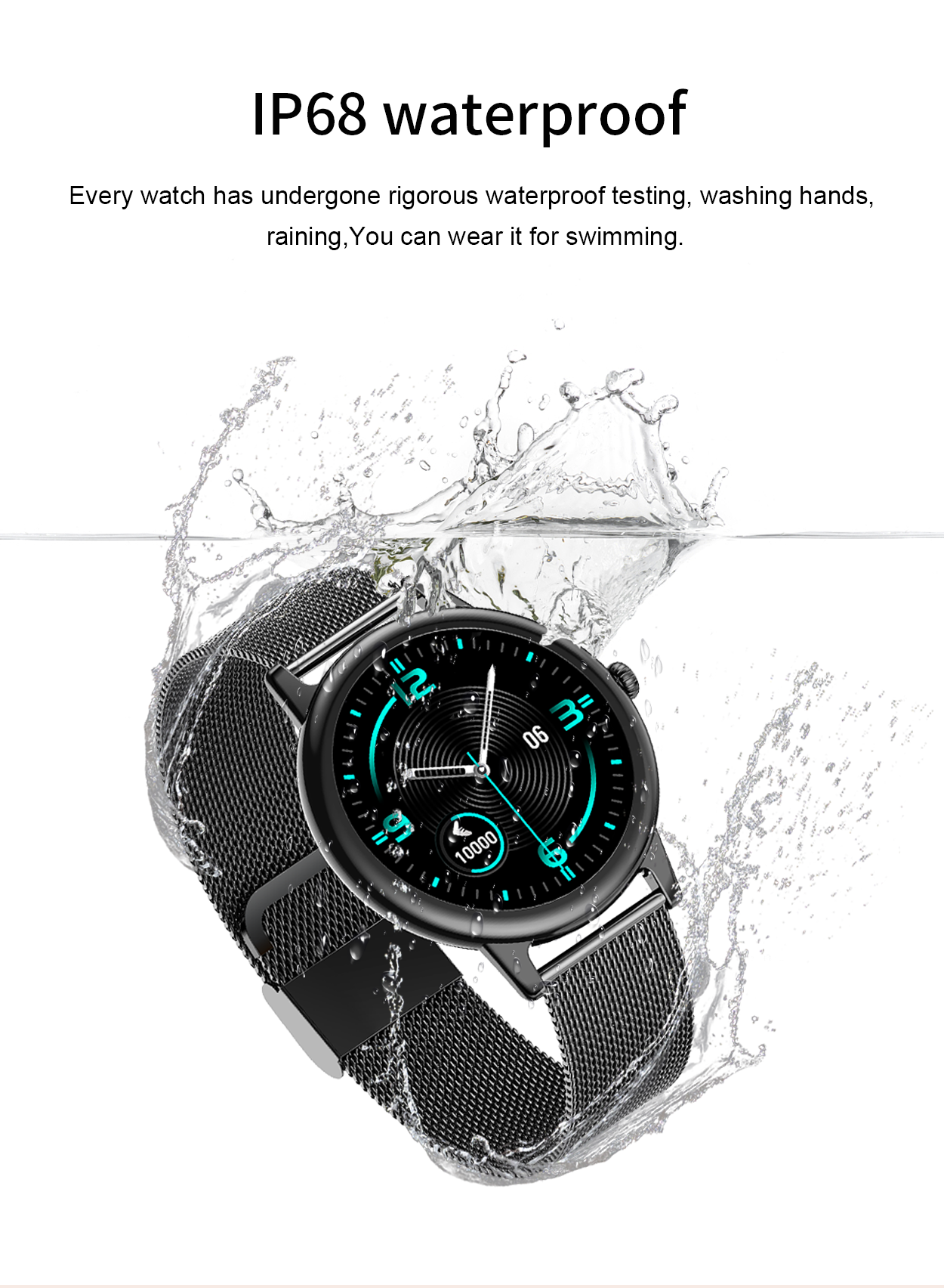 Waterproof E10 Smart Watch Fitness Tracker for Women- PINGKO