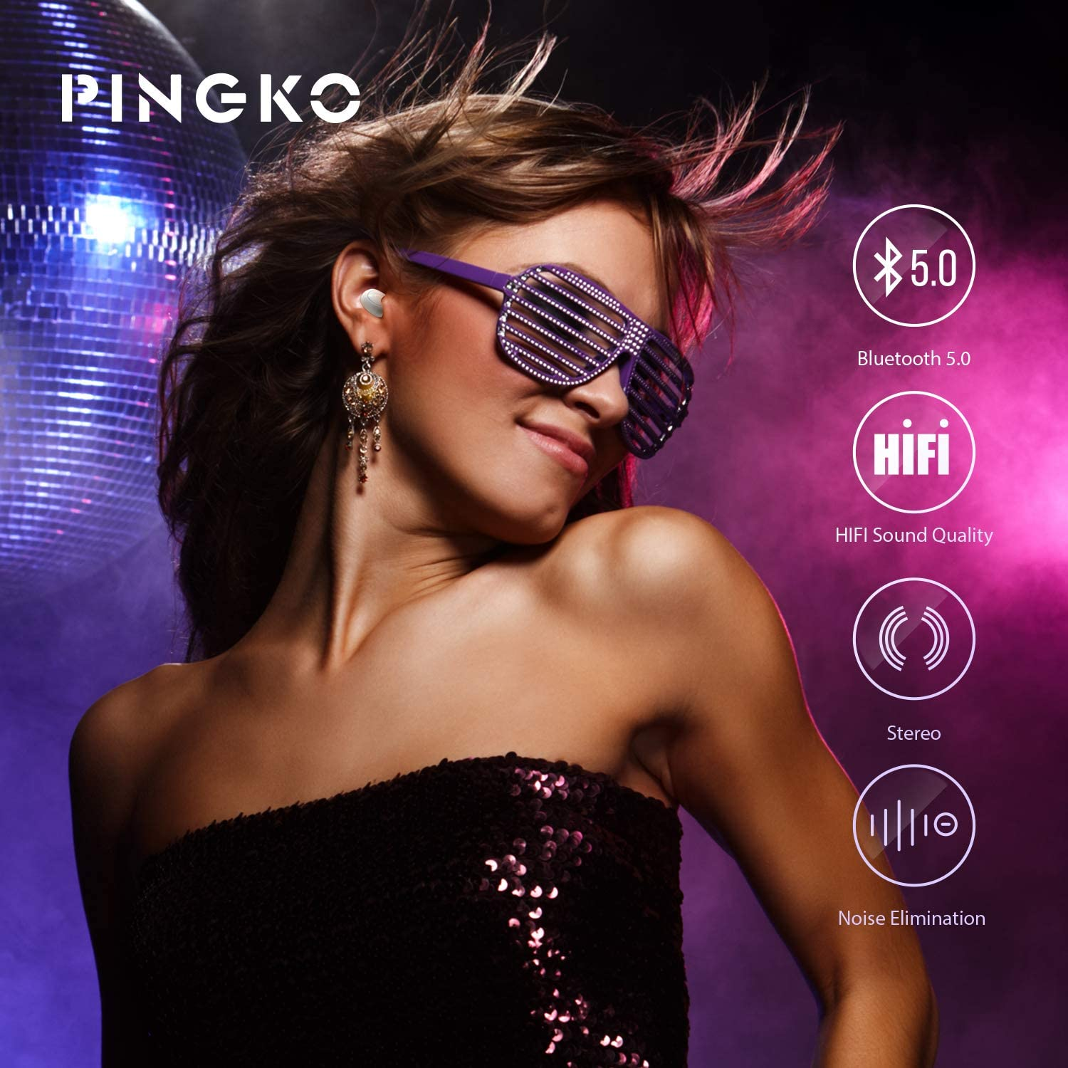 girl with Pingko Earbuds