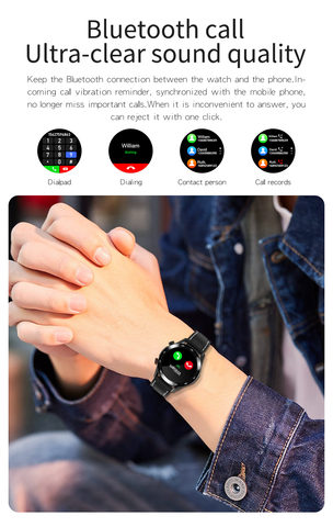 man wearing E12 Bluetooth Smart Watch