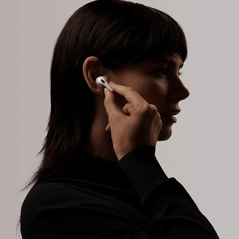 woman wearing Pingko wireless Earbuds