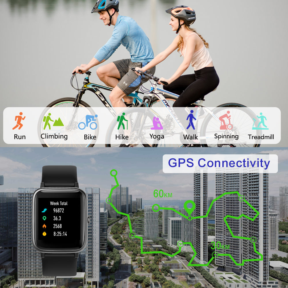 people riding with ID205L Smart Fitness Watch – PINGKO