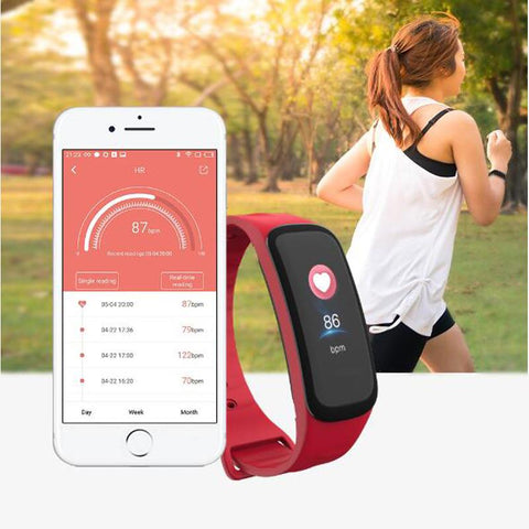 woman running with Pingko fitness Smart Watch