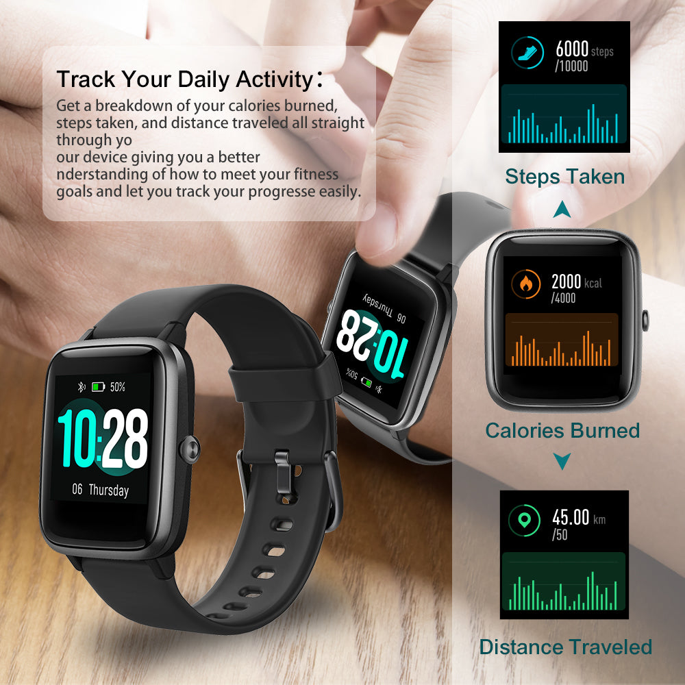 ID205L Smart Fitness Watch – PINGKO can track your daily activity