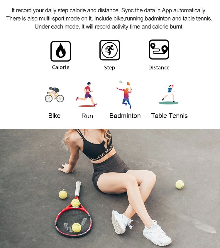 woman exercise with B6W Smart Bracelet