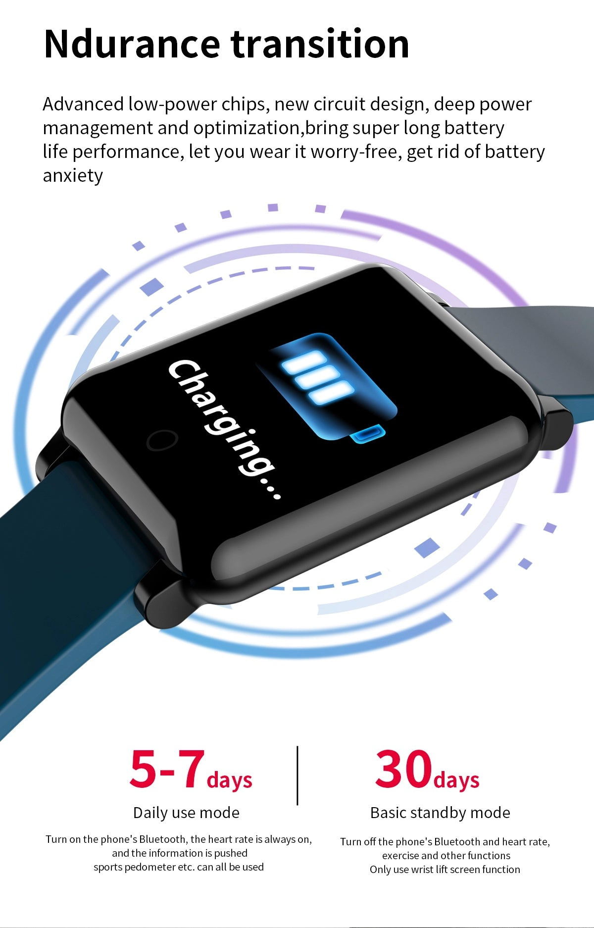F54 Smart Watch is charging