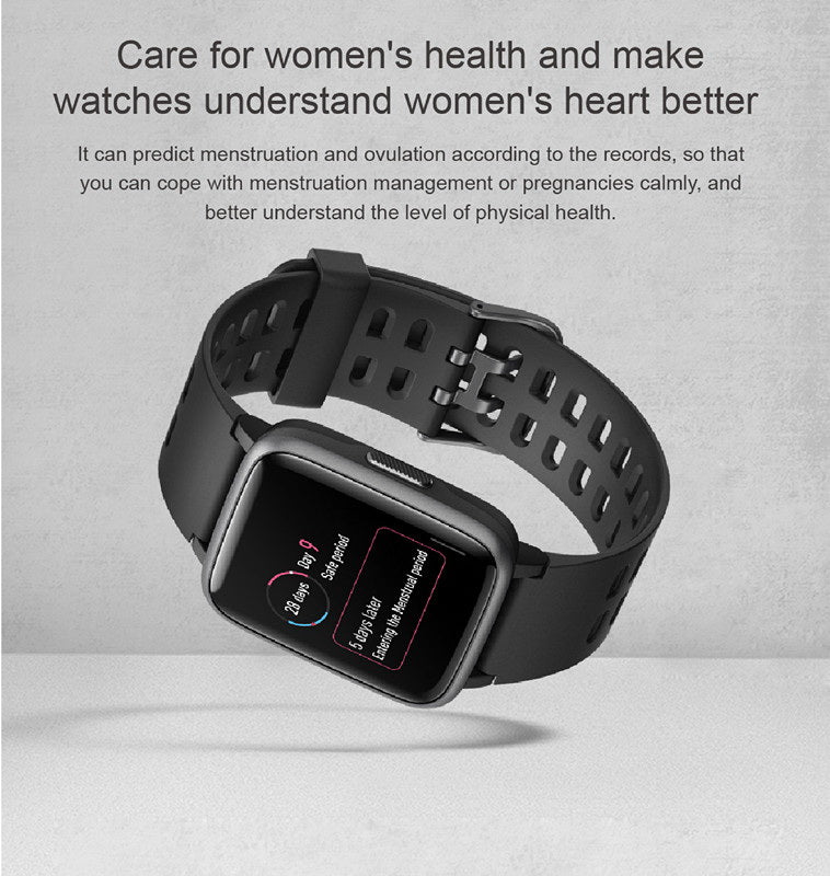 Black ID205 Fitness Watch – PINGKO