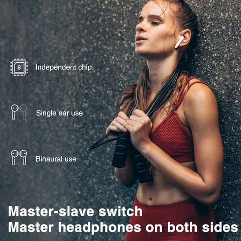 woman workout with Pingko Earbuds