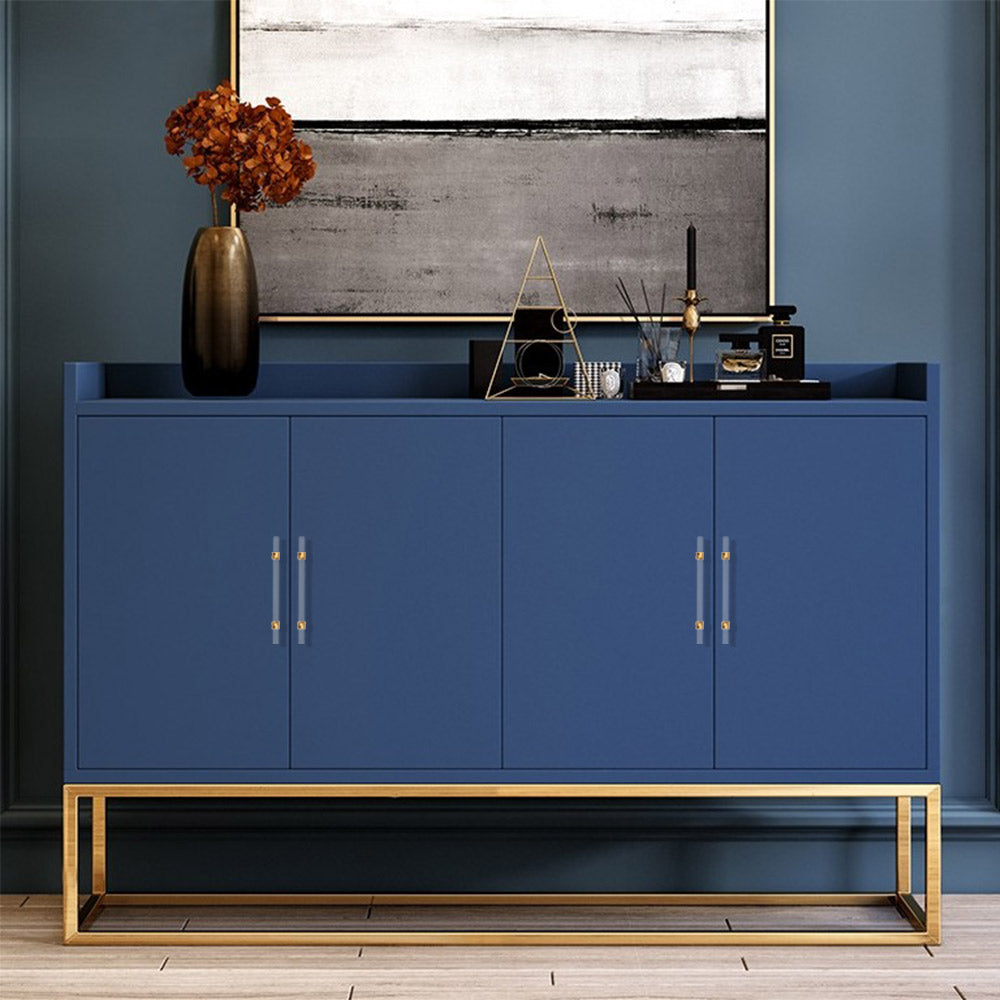 grey cabinets with gold handles