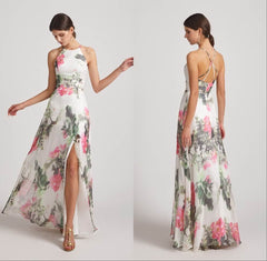 Halter Floral Bridesmaid Dresses to Shop Online Right