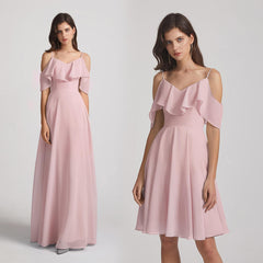 cold shoulder bridesmaid dresses
